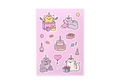 We Are Extinct Stickervel - Birthday Cats