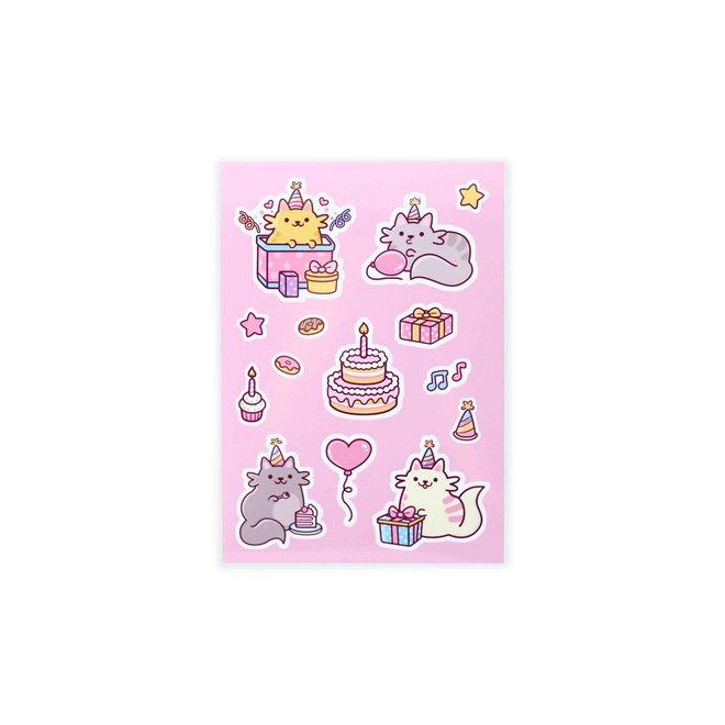 Stickervel - Birthday Cats