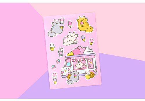 We Are Extinct Sticker sheet - Ice Cream Cats