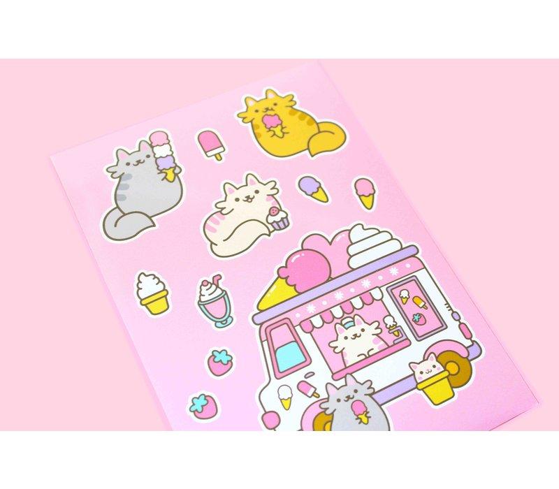 Stickervel - Ice Cream Cats