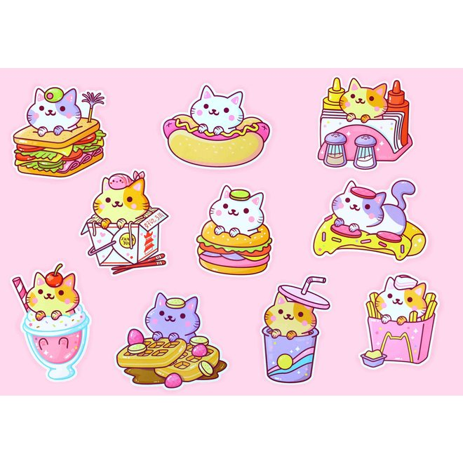 YumYum Cats sticker set - 3