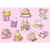 YumYum Cats sticker set - 4