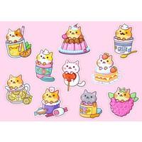 YumYum Cats sticker set - 5