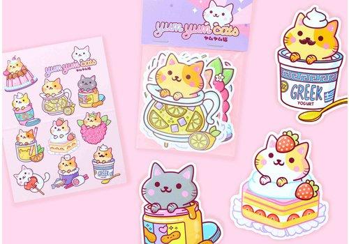 We Are Extinct YumYum Cats sticker set - 5