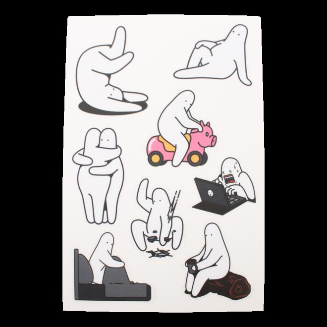 Mr.Donothing sticker sheet B