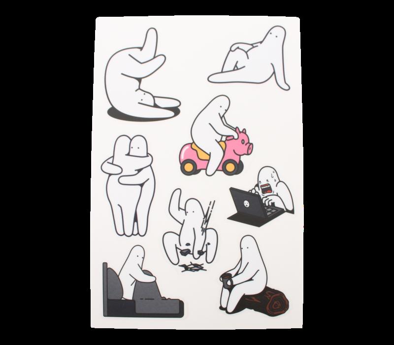 Mr.Donothing stickervel 2