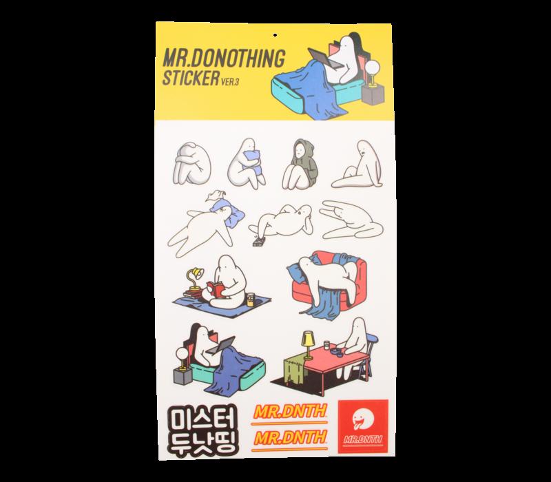 Mr.Donothing stickervel 3