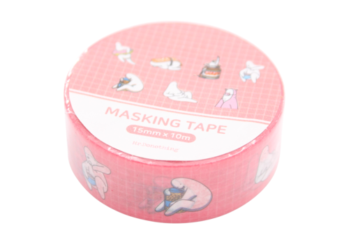 Mr.Donothing Mr.Donothing Masking / washi tape - Pink