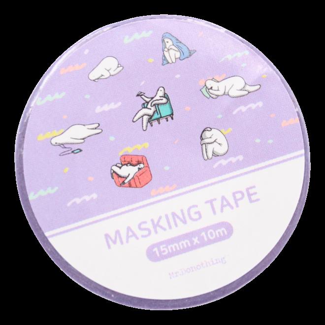 Mr.Donothing Masking / washi tape - Paars