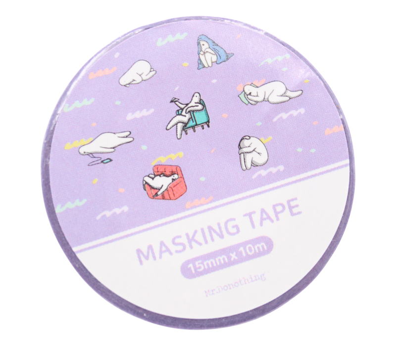 Mr.Donothing Masking / washi tape - Purple