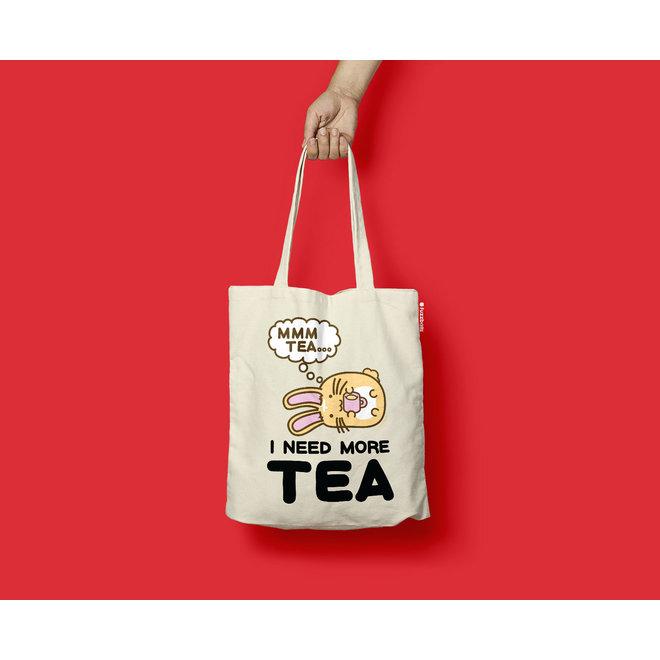 Fuzzballs Totebag - I need more tea