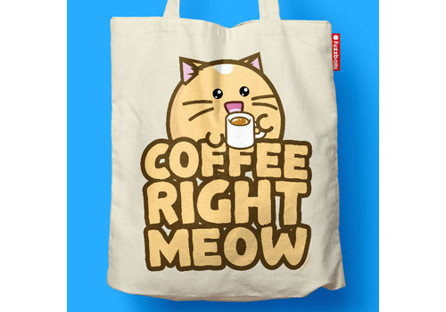 Fuzzballs Fuzzballs Totebag - Coffee right meow