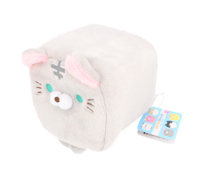 Cube Cat plushie - Grey