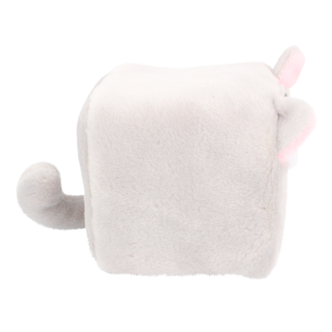 Cube Cat plushie - Grijs
