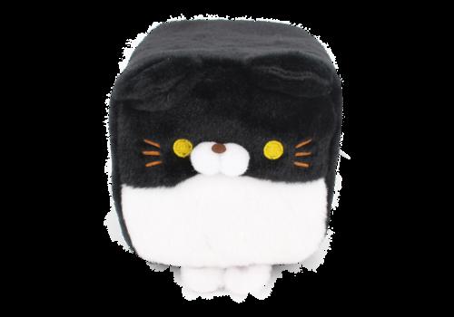 Cube Cat plushie - Zwart & wit