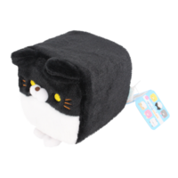 Cube Cat plushie - Black & White