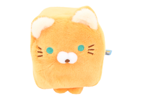 Cube Cat plushie - Orange