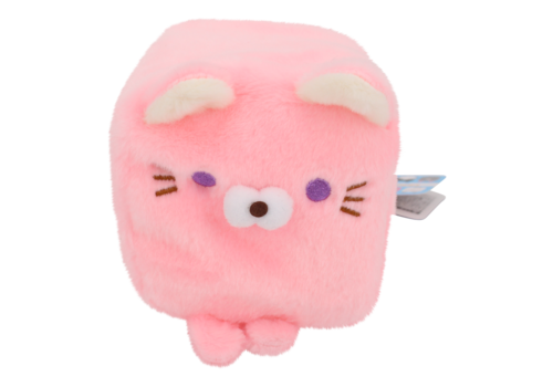 Cube Cat plushie - Pink