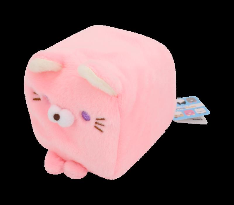 Cube Cat plushie - Pink