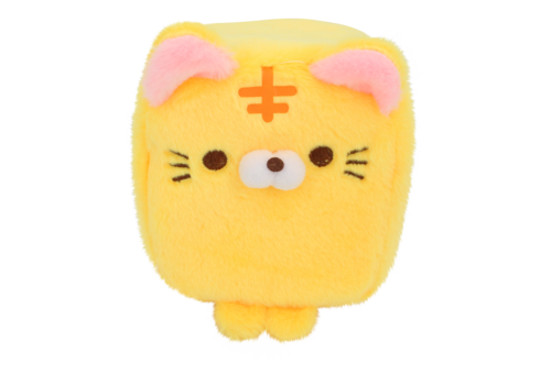 Cube Cat plushie - Yellow