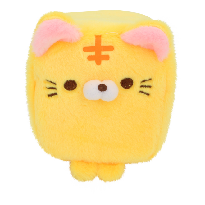 Cube Cat plushie - Yellow