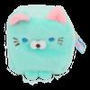 Cube Cat plushie - Turkoois