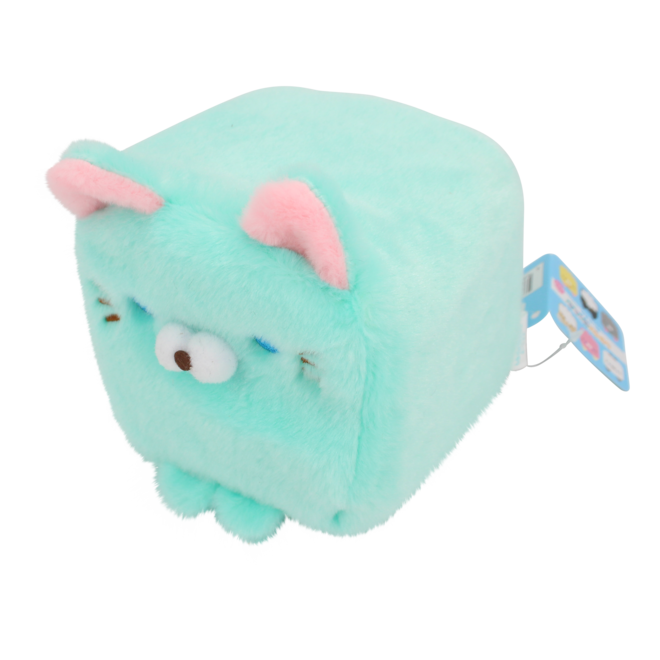 Cube Cat plushie - Turquoise