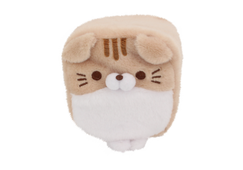 Cube Cat plushie - Brown & White