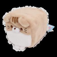 Cube Cat plushie -  Bruin & Wit