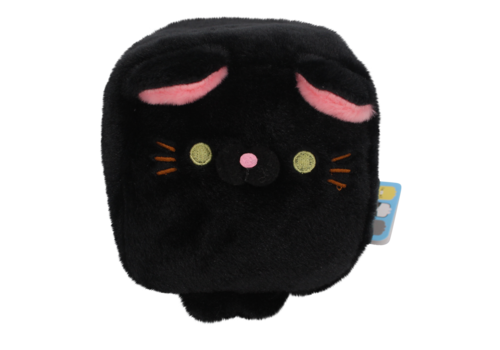 Cube Cat plushie - Black