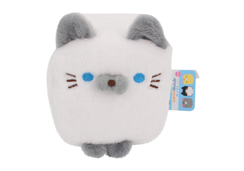 Cube Cat plushie - White & Grey