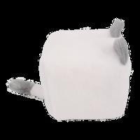Cube Cat plushie - White & Grey