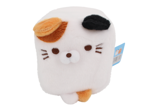 Cube Cat plushie -  Wit