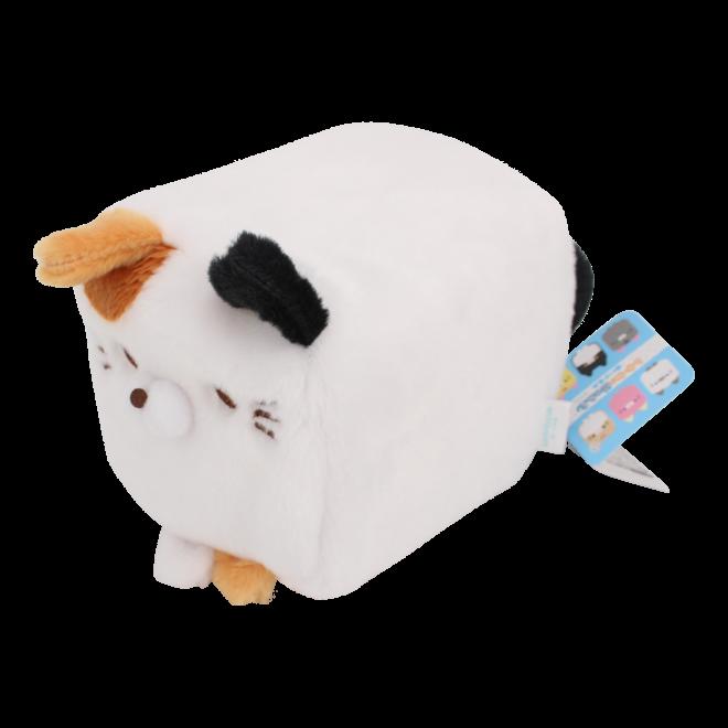 Cube Cat plushie - White