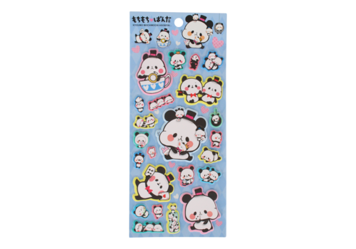Panda Puffy Stickers (various)