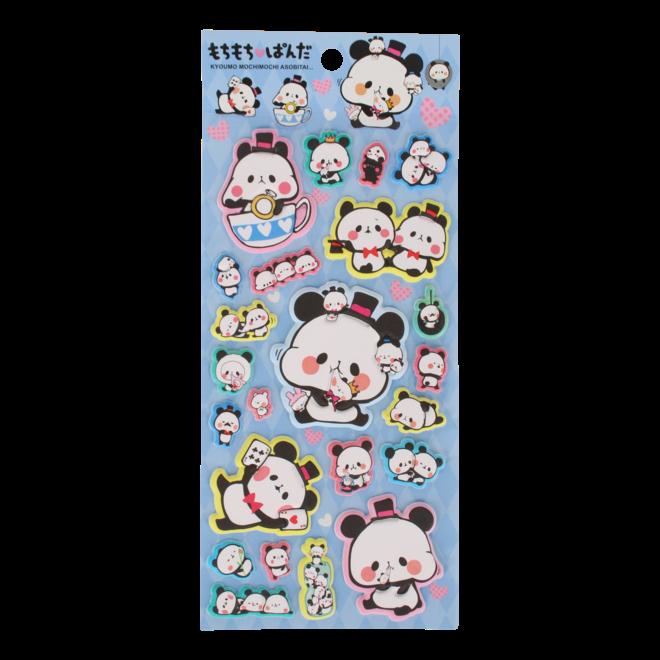 Kamio Panda Puffy Stickers (div)
