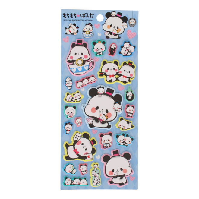 Panda Puffy Stickers (various)