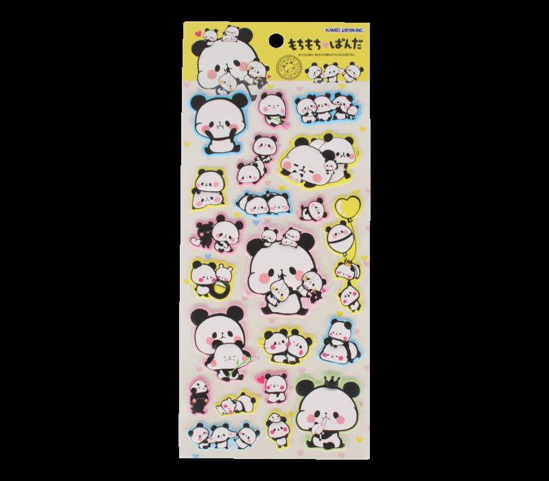 Kamio Panda Puffy Sticker (various)