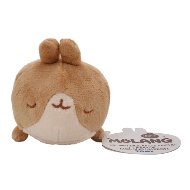 Brown Molang's Friend Sleeping Plushiee 10 cm