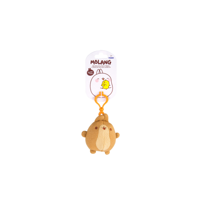 Brown Molang's Friend Clip Plush