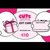 CuteStuff CuteStuff.nl gift card  € 10,-