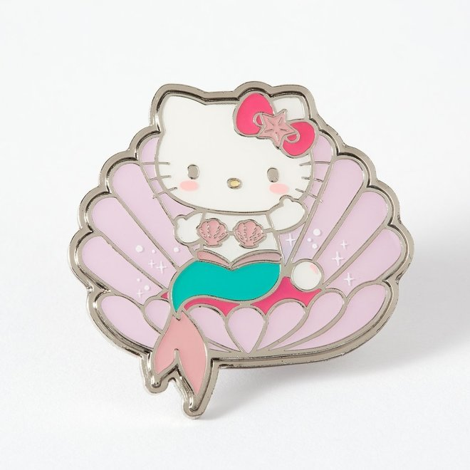 Punky Pins emaille Pin - Hello Kitty Mermaid Clam