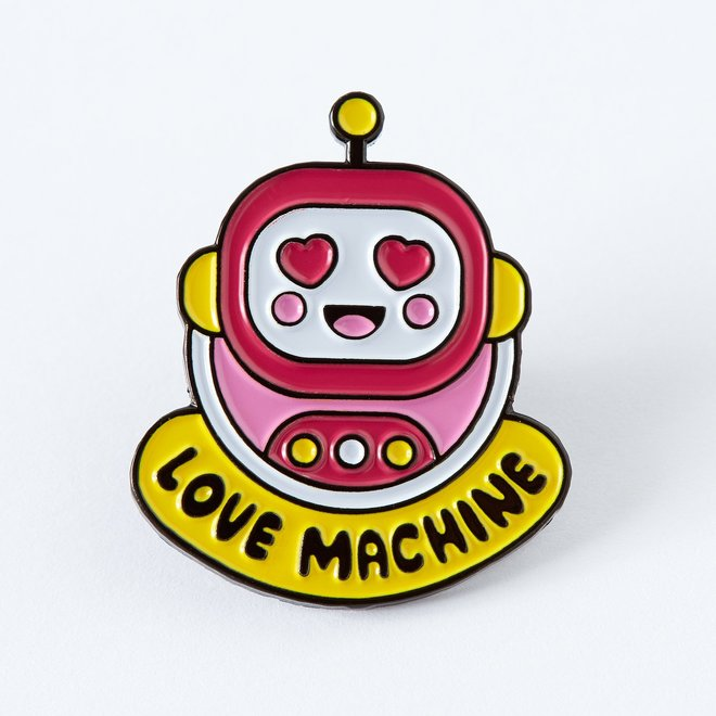 Punky Pins emaille Pin -  Love Machine