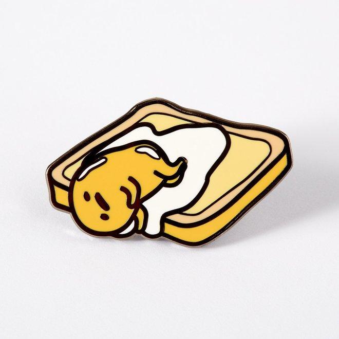 Punky Pins enamel Pin - Gudetama On Toast
