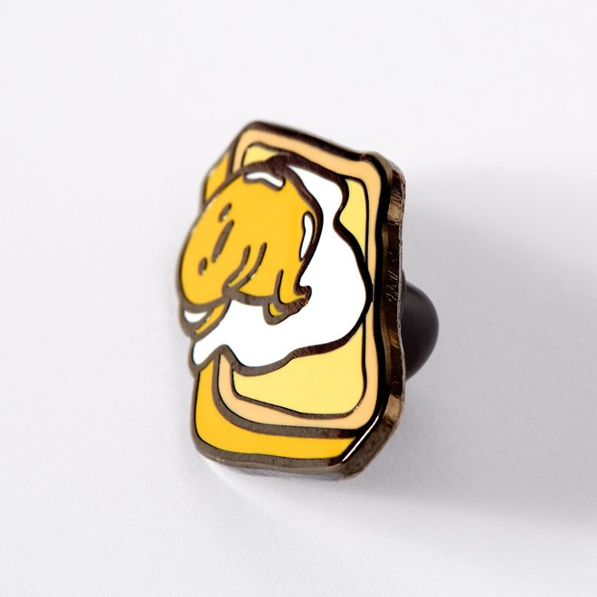 Punky Pins emaille Pin - Gudetama On Toast