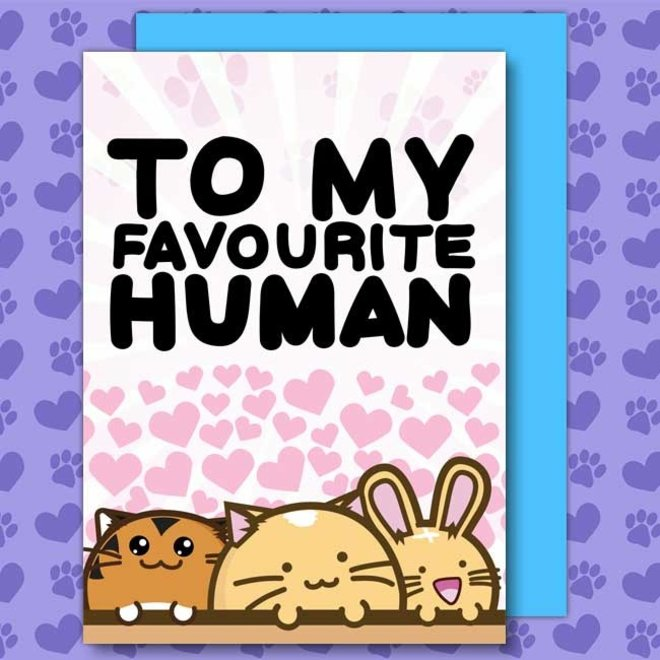 Fuzzballs post card - To my favourite human