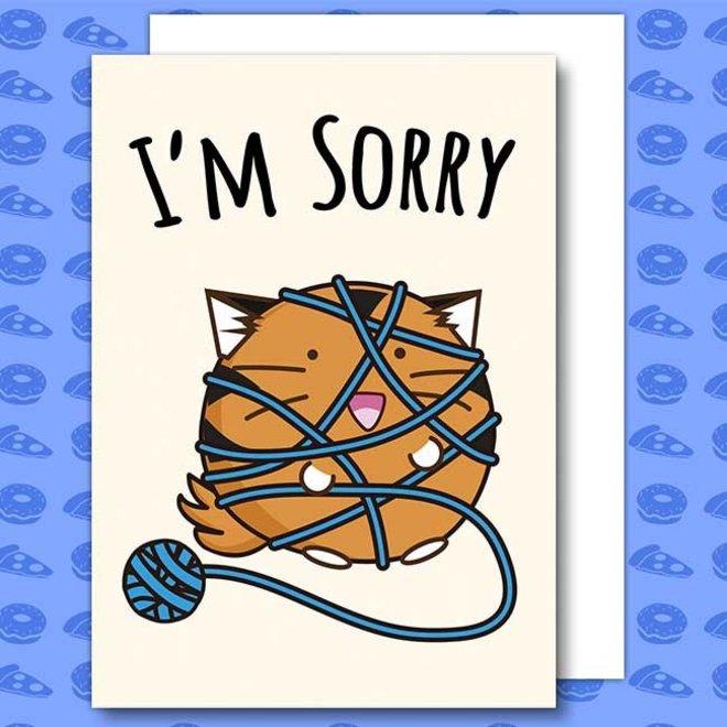 Fuzzballs post card - I'm sorry