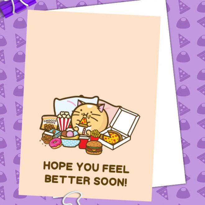 Fuzzballs ansichtkaart - Hope you feel better soon