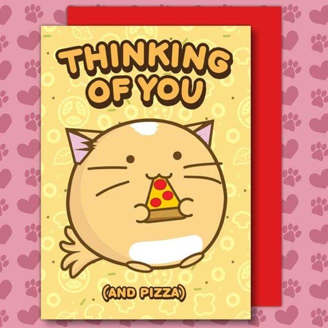 Fuzzballs ansichtkaart - Thinking of you