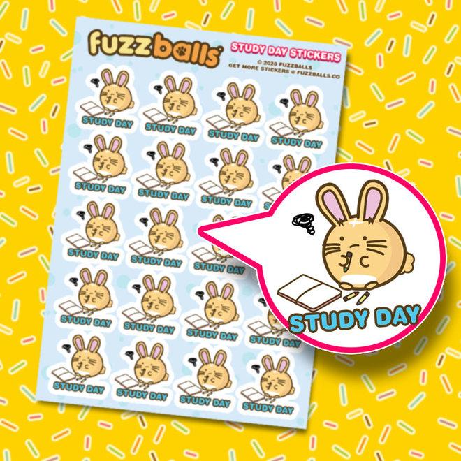Fuzzballs stickervel - Study day